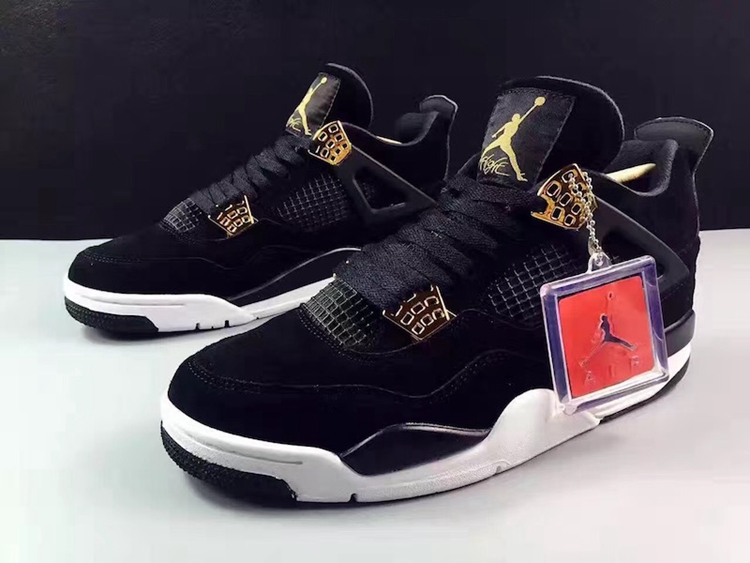 "Air Jordan 4,AJ4,308497-032  磨砂黑金!Air Jordan 4 ""Royalty"" 明年一月登场"
