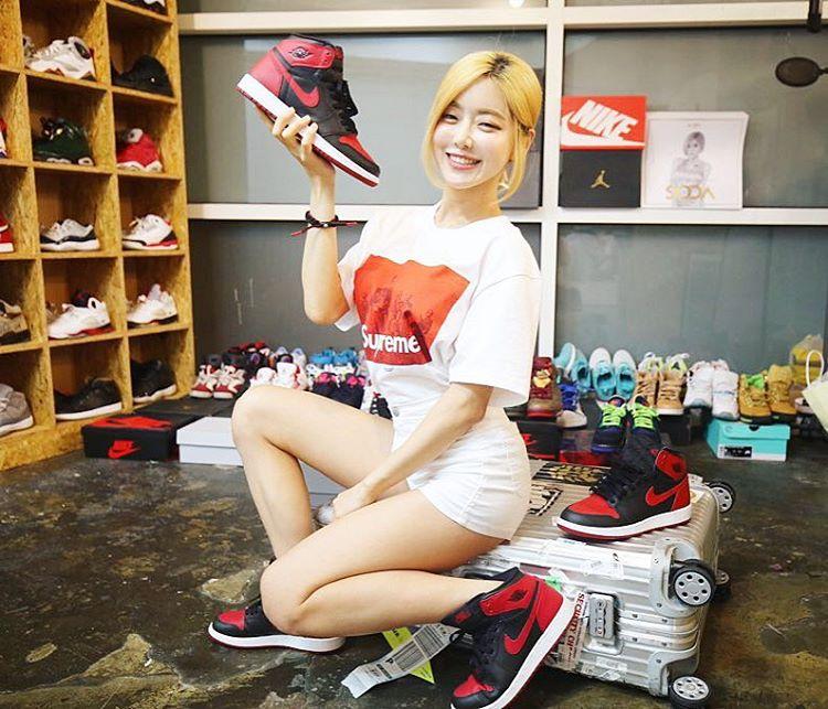 球鞋女神 DJ Soda 实拍美图 - 莆田鞋