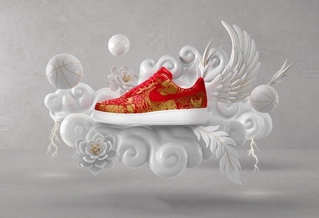 "Nike,NIKEiD,Chinese New Year  生肖别注!Nike Air Force 1 ""Chinese New Year"" iD 现已开启"