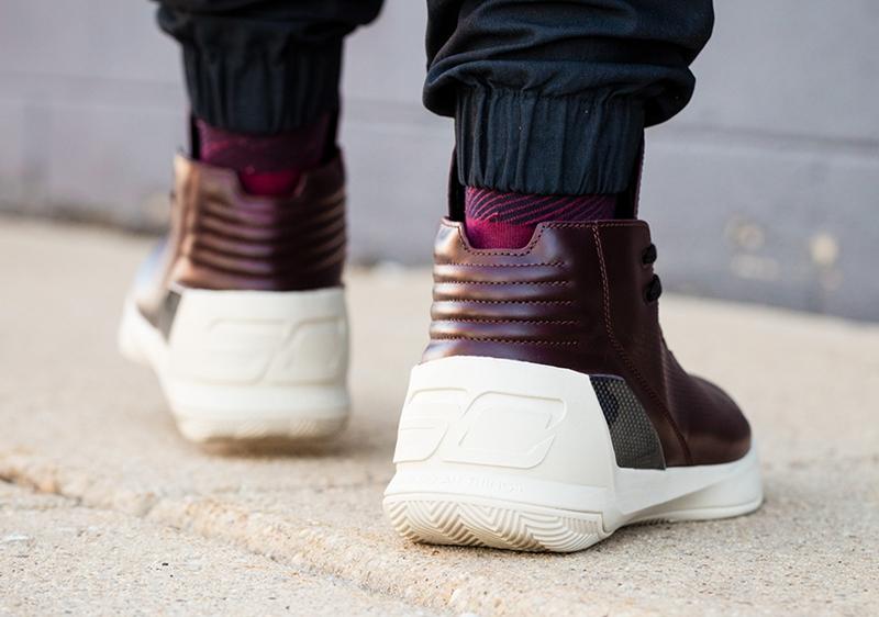"UA Curry 3 Lux ""Oxblood Leather"" - 莆田鞋"