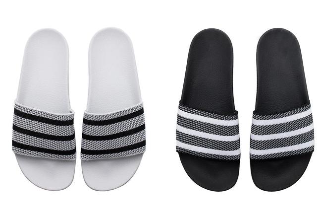 adilette,adidas 这个夏天你可以穿 Primeknit 编织版本的拖鞋了!