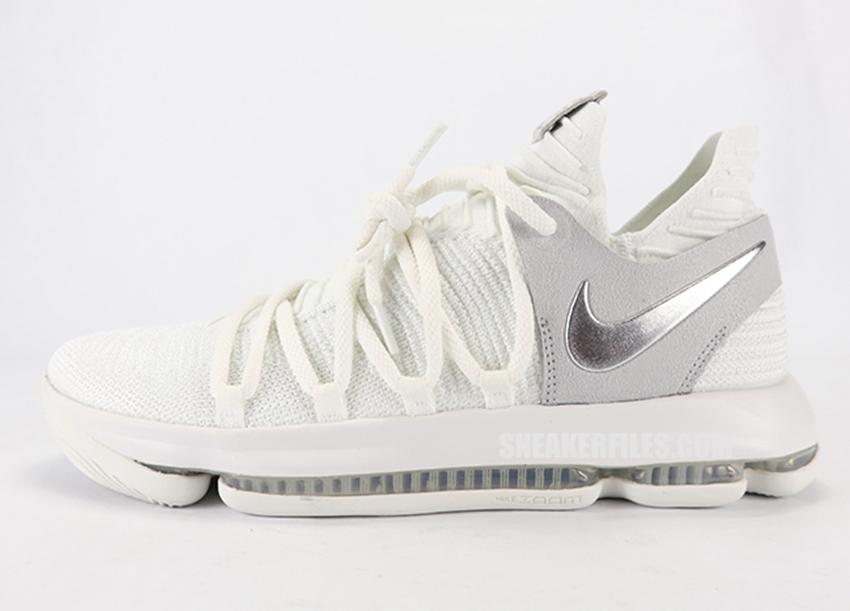 "Nike KD 10 ""Chrome"" 货号:897815-100 - 莆田鞋"