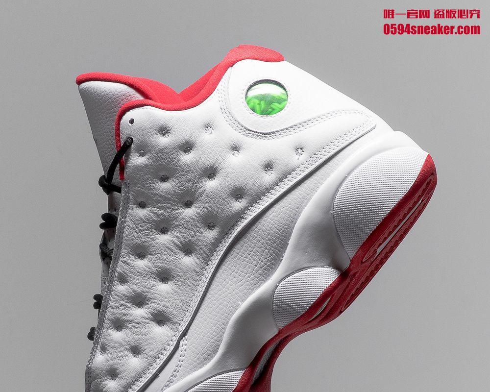 """AJ13,Air Jordan 13  白红配色质感极佳! Air Jordan 13 """"HOF"""" 将于本周六发售!"""