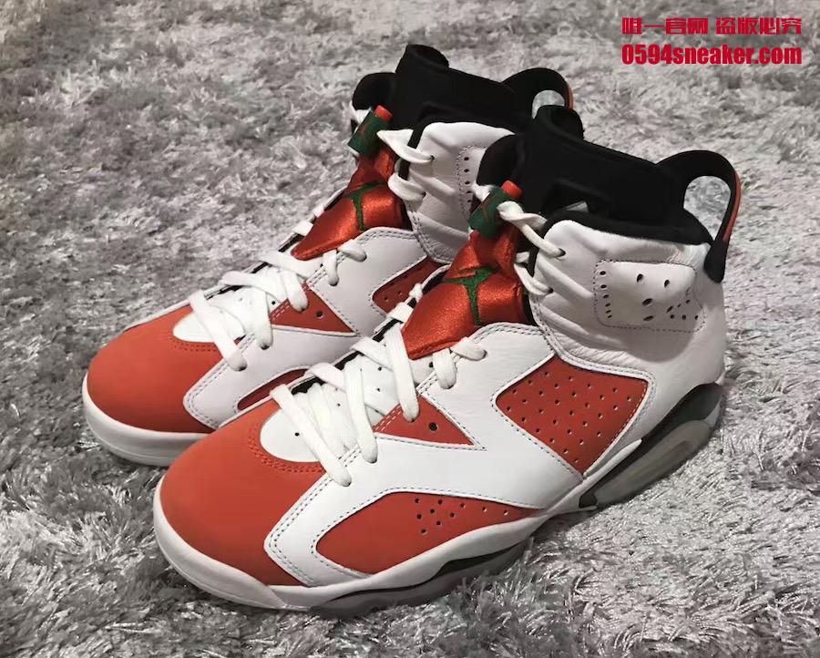 """AJ6,Air Jordan 6,384664-145  极似胭脂红!Air Jordan 6 """"Gatorade"""" 实物曝光!"""