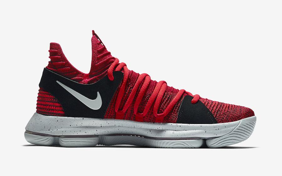 "Nike KD 10 ""University Red"" 货号:897816-600、918365-600(GS) - 莆田鞋"