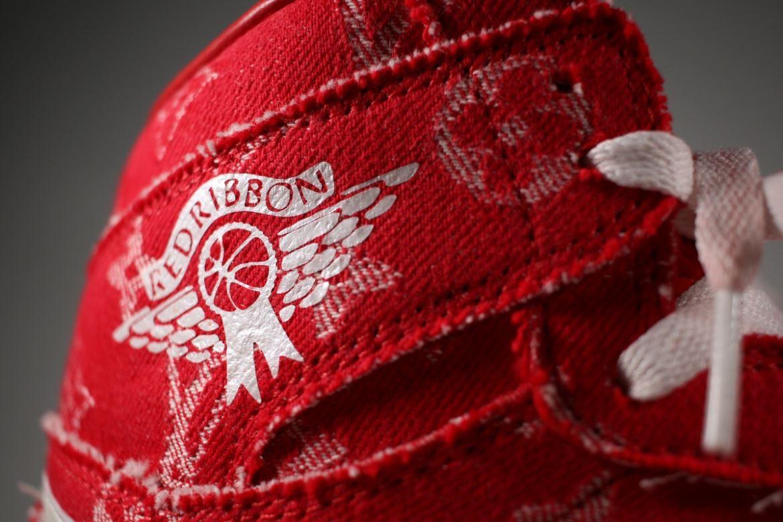"""AJ1,Air Jordan 1  奢华细节!定制 AJ1 """"Supreme x Louis Vuitton"""" 实物欣赏"""