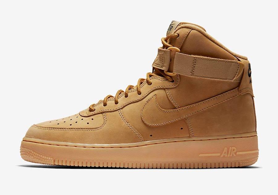 "Nike,Air Force 1 High,882096-2  小麦回归!人气配色 Air Force 1 High ""Flax"" 十月发售"