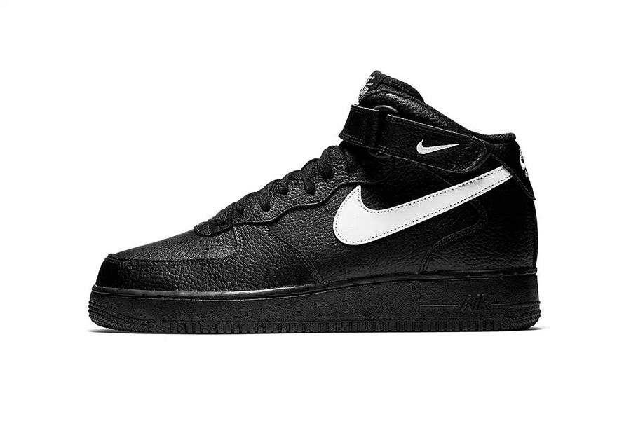 AF1,Nike,VLONE  VLONE 既视感!全新黑色 Nike Air Force 1 Mid 带来不俗质感