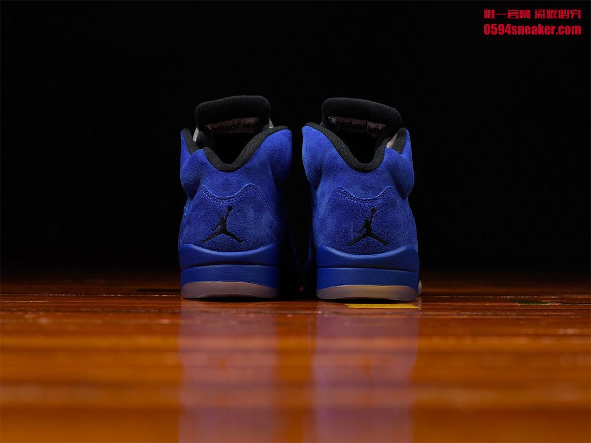 """136027-401,AJ5,Air Jordan 5 136027-401AJ5 蓝麂皮要来了!Air Jordan 5 """"Flight Suit"""" 本月底发售"""