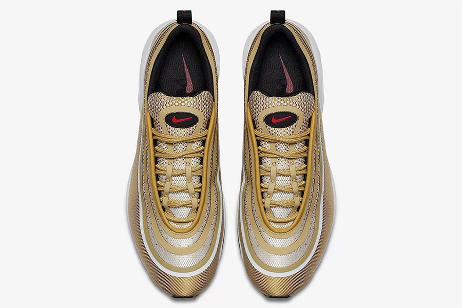 "Air Max 97,Nike  3M 反光加持!Nike Air Max 97 Ultra ""Metallic Gold"" 即将发售"