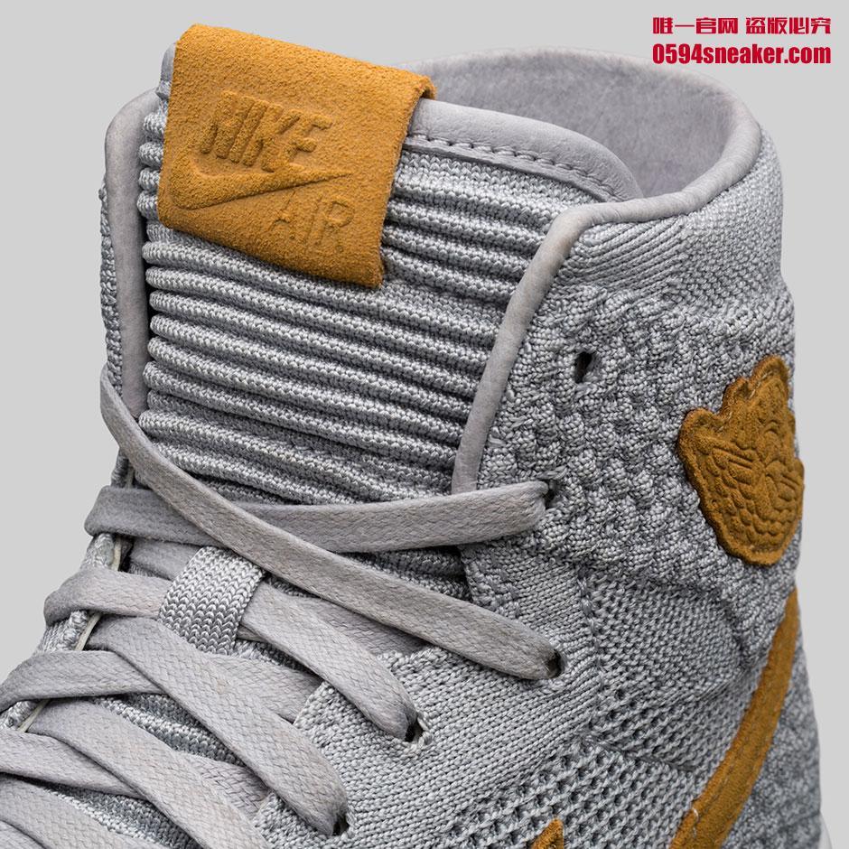 "Air Jordan 1 Flyknit ""Wolf Grey""  货号:919704-025 - 莆田鞋之家 0594sneaker.com"