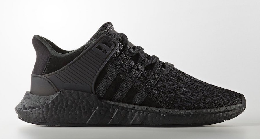 "adidas Originals EQT 93/17 Boost ""Triple Black"" 货号:BY9512 售价:$180 - 莆田鞋"