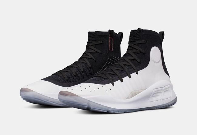 "Under Armour Curry 4 ""Black/White"" 货号:1298306-007 售价:$130 - 莆田鞋"