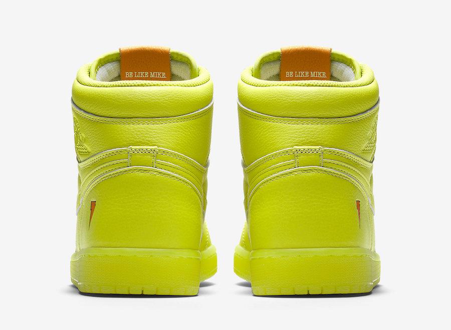 AJ1,Air Jordan 1,AJ5997-345  还是佳得乐配色!柠檬黄版本 Air Jordan 1 发售日期确定