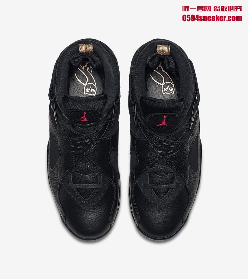 AA1239-135,AJ8,Air Jordan 8 AA1239-135 黑金 + 白金!Air Jordan 8 OVO 中国区下周发售!