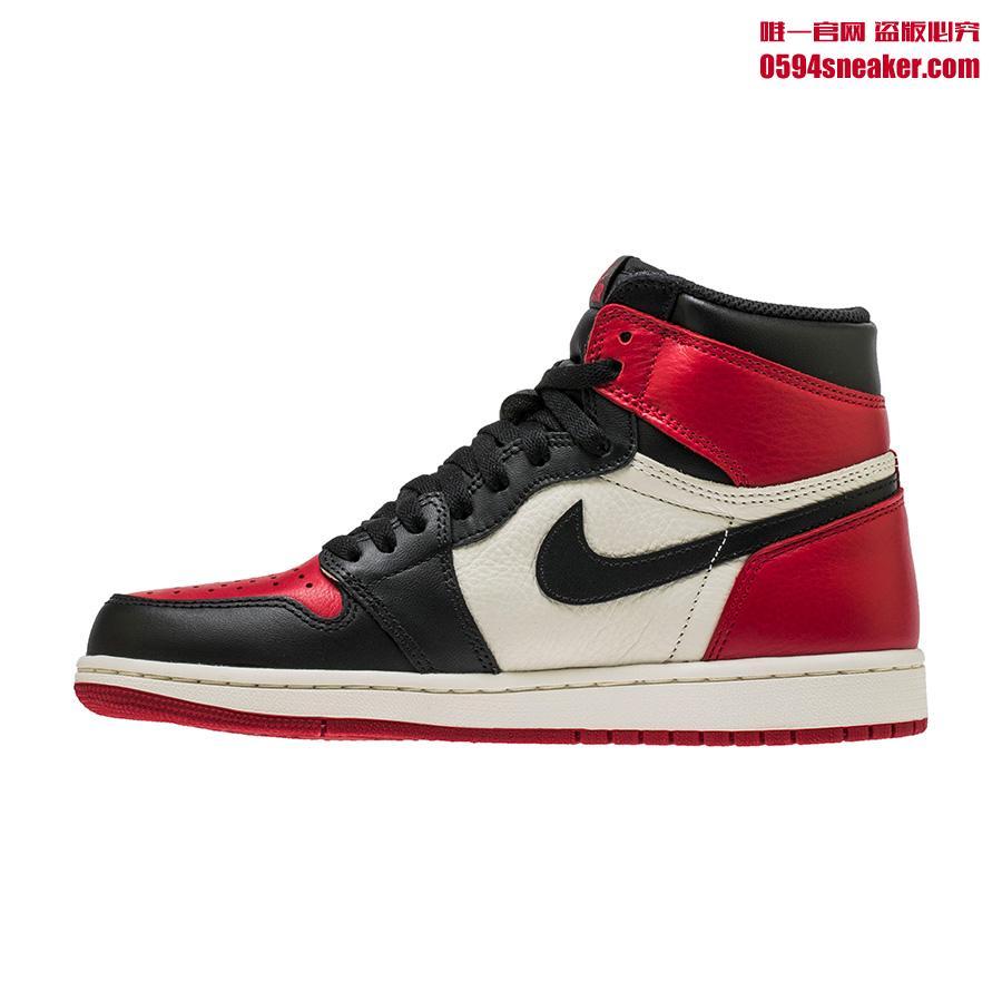 "Air Jordan 1 Retro High OG ""Bred Toe"" 货号:555088-610 乔丹""黑脚趾 2.0"" - 莆田鞋"