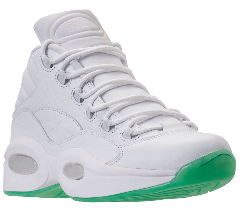 "Reebok Question 1,Reebok  荧光薄荷绿!蛇皮印花 Question 1 ""Mint Glow"" 本周发售"