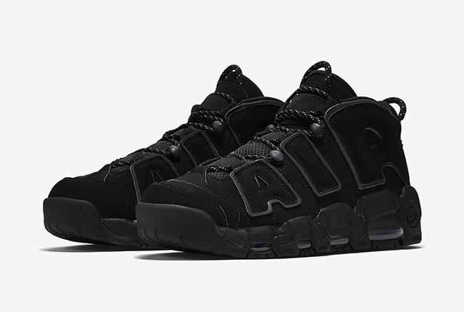 "Nike Air More Uptempo ""Triple Black"" 大Air 纯黑 3M反光,货号:414962-004 | 球鞋之家0594sneaker.com"