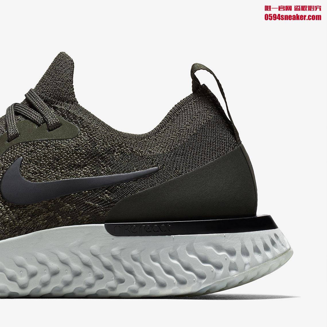 Nike,Epic React,AQ0070-300  硬朗军绿色登场!全新 Epic React FK 本月发售