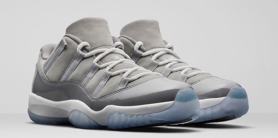 """Air Jordan 11 Low """"Cool Grey""""  货号:528895-003 - 莆田鞋"""