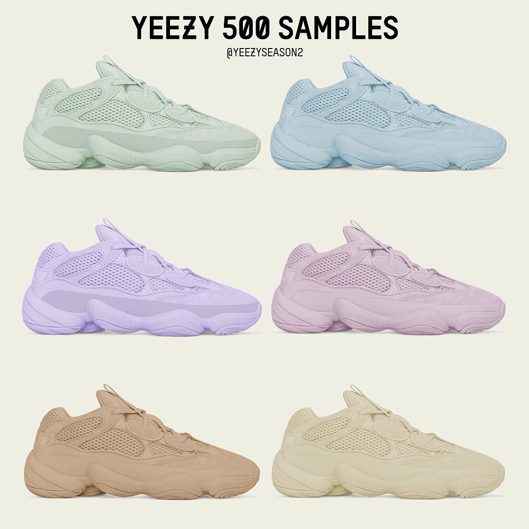 "Adidas Yeezy 500 ""Salt"" 货号: EE7287 椰子500老爹鞋纯白配色 - 莆田鞋"