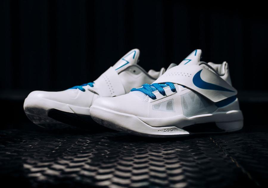 "Nike KD 4 QS ""Thunderstruck"" 货号:AQ5103-100 冠军 16 系列之杜兰特4代 - 莆田鞋"