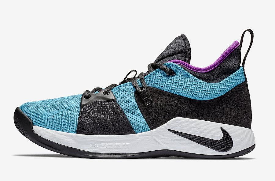 """Nike PG 2 """"Blue Lagoon""""  货号:AJ2039-402 保罗 · 乔治2代全新战靴 - 莆田鞋"""