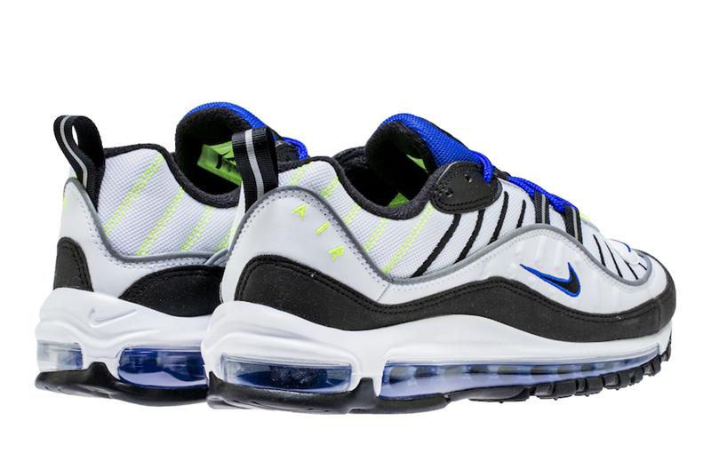 """Nike,Air Max 98,640744-103 全新亮眼配色!Nike Air Max 98 """"Racer Blue"""" 即将发售"""