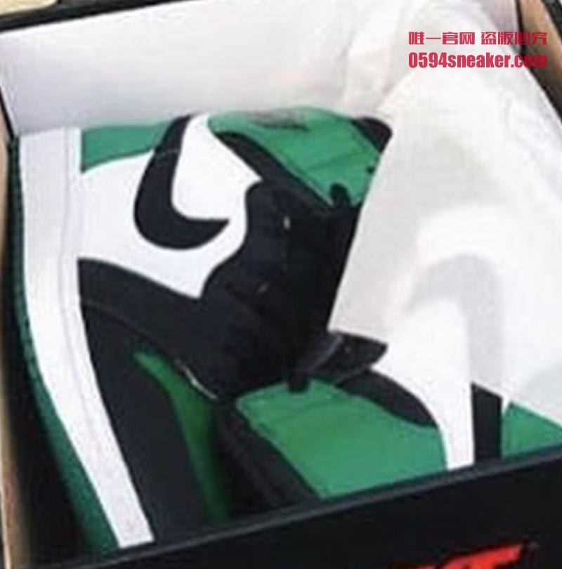 "Air Jordan 1 ""Pine Green"" 货号:555088-302 黑绿脚趾 - 莆田鞋"