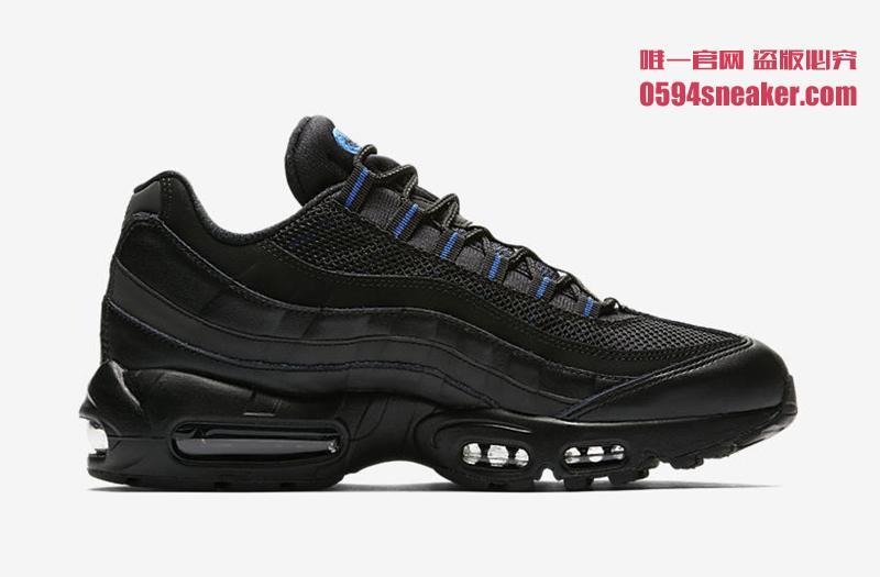 Nike,Air Max 95,AP9972-002  多种皮料打造!Air Max 95 全新黑蓝配色曝光