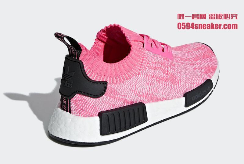 """Adidas NMD R1 Primeknit """"Solar Pink"""" 货号:AQ1104 - 莆田鞋"""