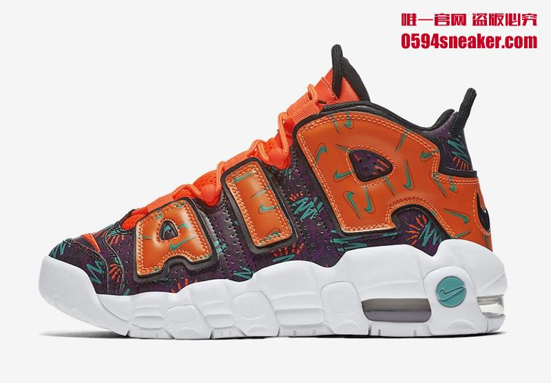 """Nike Air More Uptempo GS """"What The 90s"""" 货号:AT3408-800 