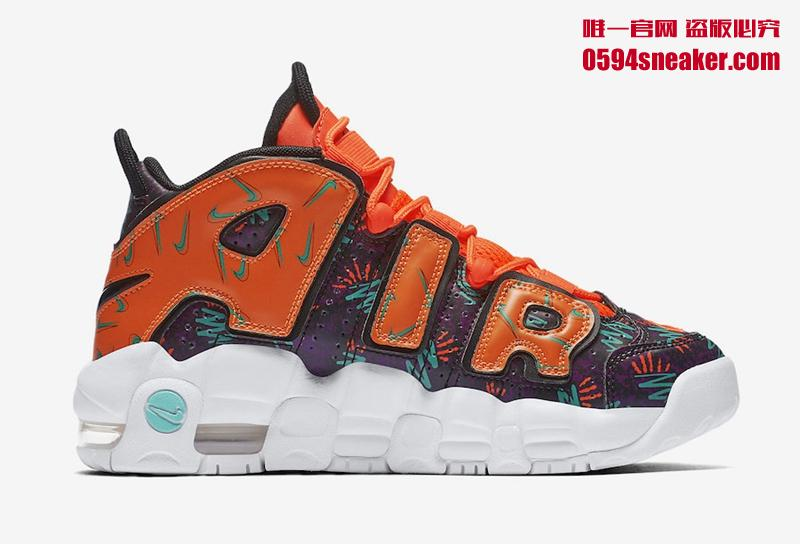 """Nike Air More Uptempo GS """"What The 90s"""" 货号:AT3408-800   球鞋之家0594sneaker.com"""