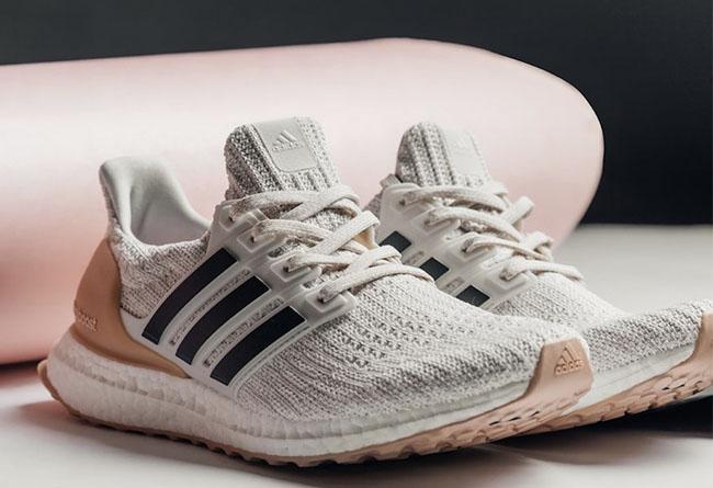 "adidas Ultra Boost 4.0 ""Running White"" 灰粉,货号: BB6492 - 莆田鞋"
