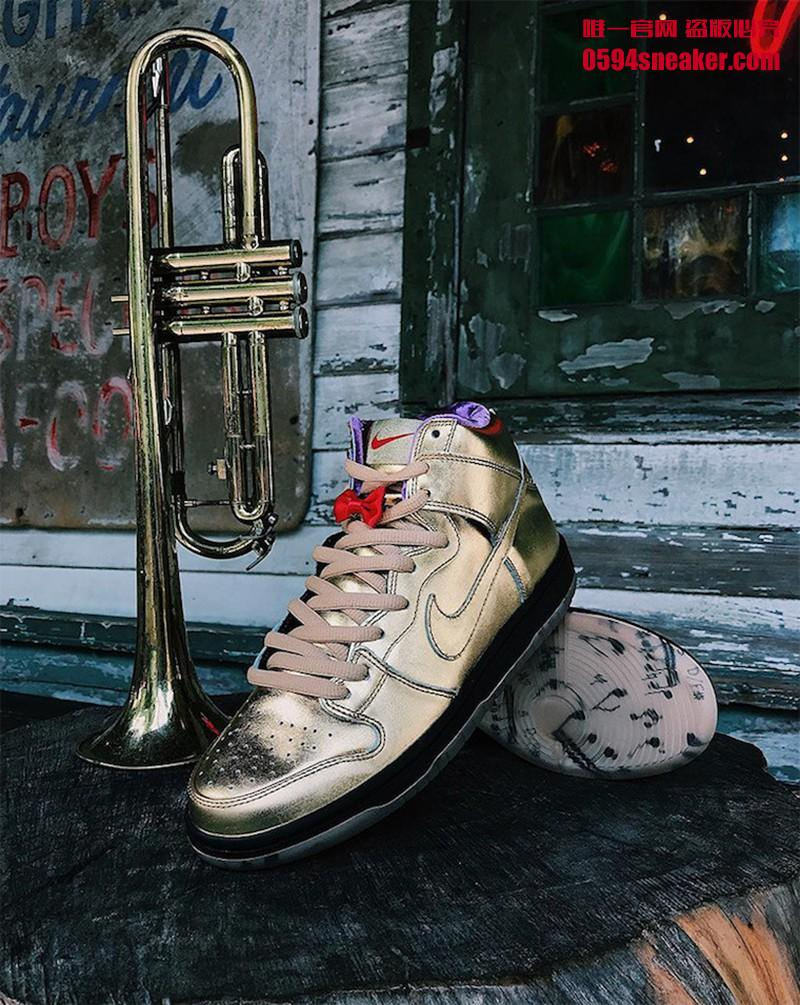 "Humidity x Nike SB Dunk High ""Trumpet"" 货号:AV4168-776 - 莆田鞋"