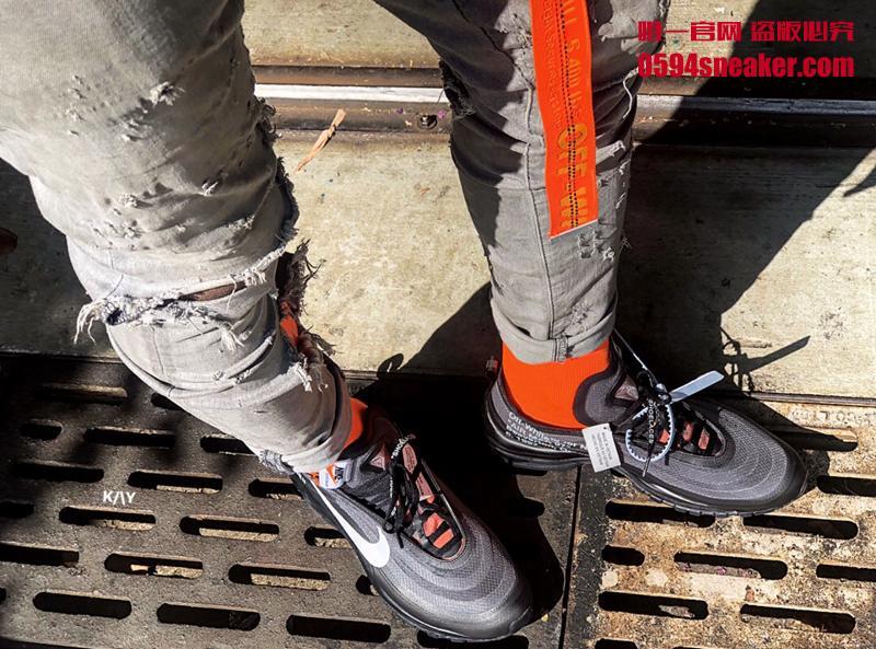 "OFF-WHITE x Nike Air Max 97 ""Cone"" 货号:AJ4585-001 - 莆田鞋"