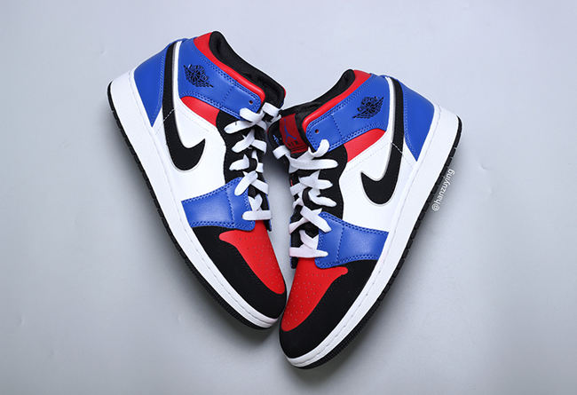 Air Jordan 1 Mid GS 货号:554725-124 - 莆田鞋
