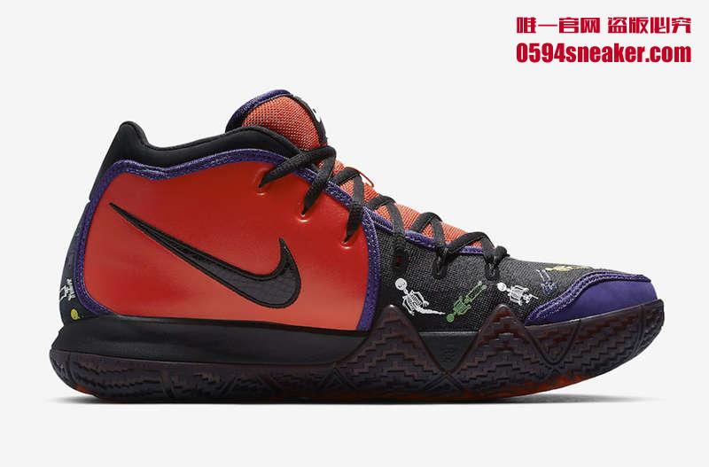 """Nike Kyrie 4 """"Day of the Dead"""" 货号:CI0278-800 