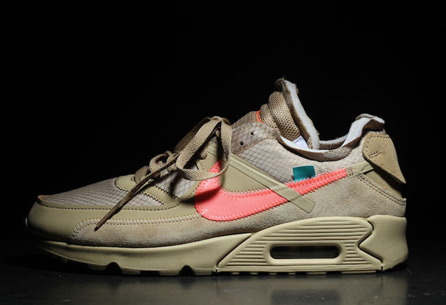"Off-White x Nike Air Max 90 ""Desert Ore"" 货号:AA7293-200 - 莆田鞋之家 0594sneaker.com"