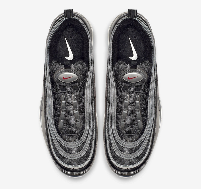 Nike Air Max 97 QS 液态金属配色,货号:AT5458-001、AT5458-002、AT5458-100 - 莆田鞋