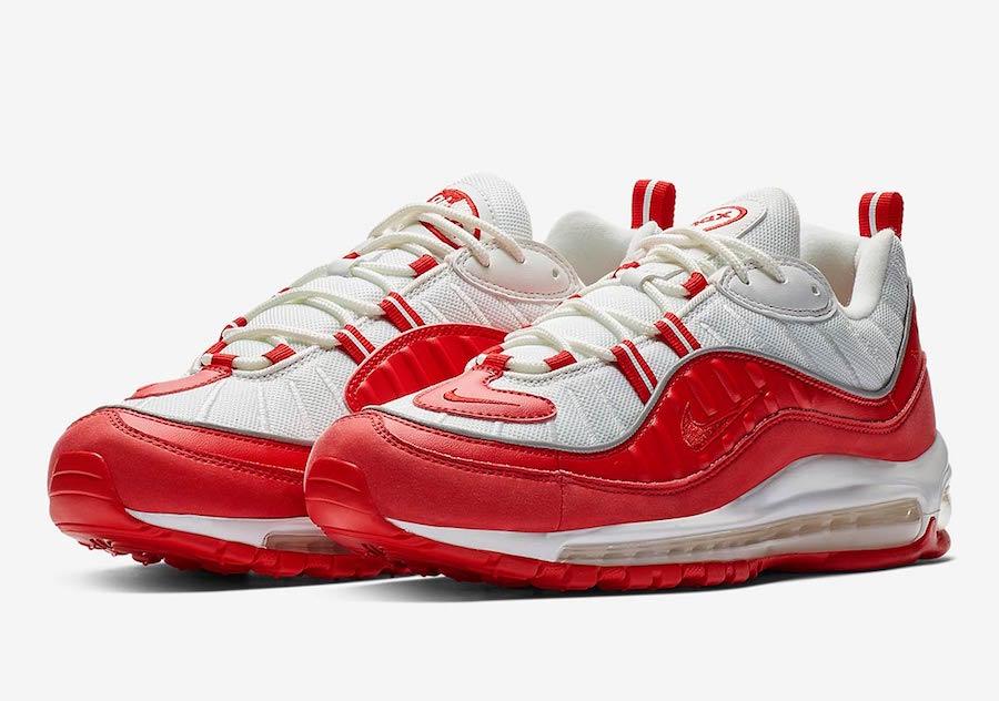Nike Air Max 98 白红配色,货号:640744-602 - 莆田鞋