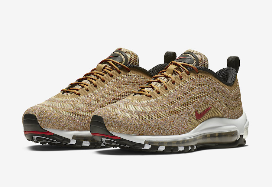 "Nike Air Max 97 LX ""Gold Swarovski"" 货号:927508-700 - 莆田鞋"