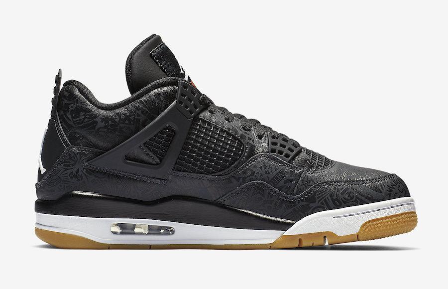 "Air Jordan 4 SE Laser ""Black Gum"" 货号:CI1184-001 - 莆田鞋"
