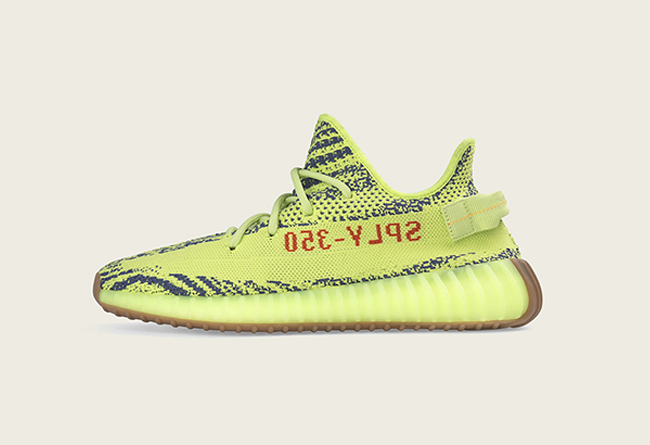 "Adidas Yeezy 350 V2 ""Semi Frozen Yellow"" 黄斑马,货号:B37572 - 莆田鞋"