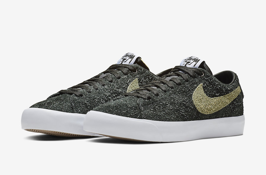 Stüssy x Nike SB Blazer Low 货号:BQ6449-001 - 莆田鞋