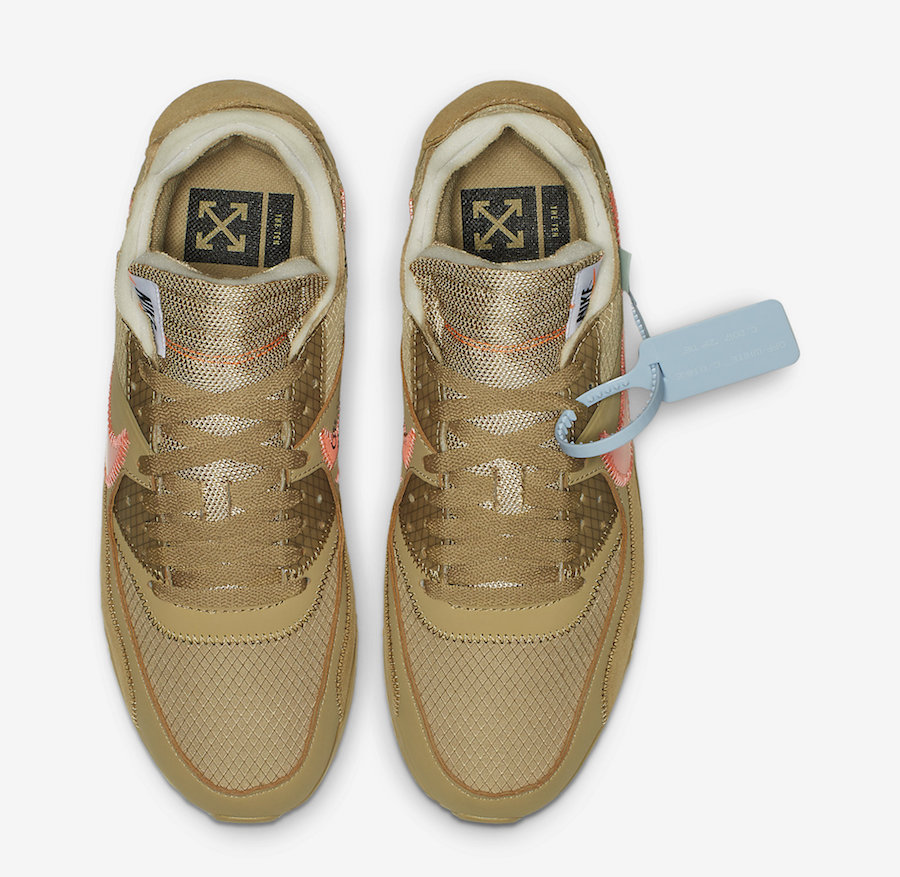 "OFF-WHITE x Nike Air Max 90 ""Desert Ore"" 小麦配色,货号:AA7293-200 - 莆田鞋"