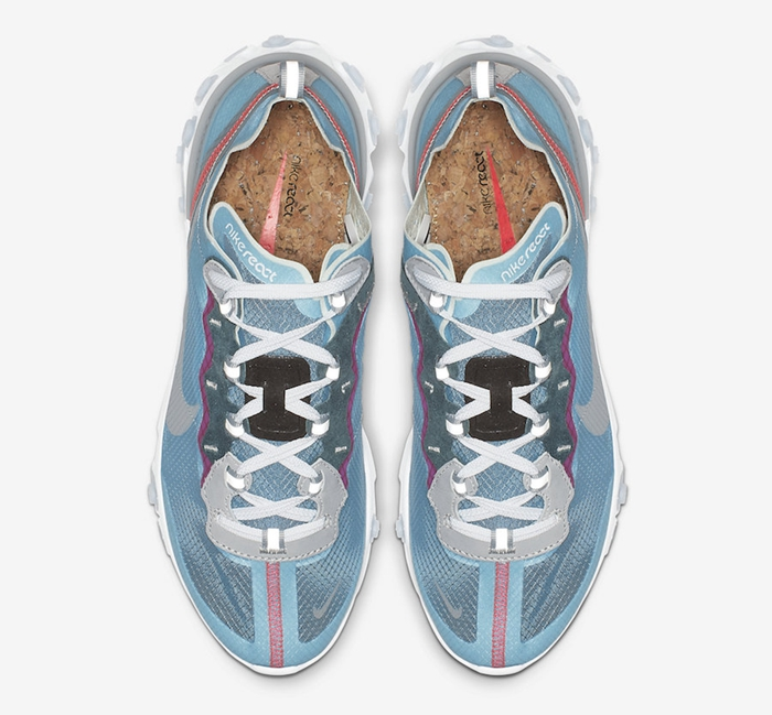 "Nike React Element 87 ""Royal Tint"" 货号:AQ1090-400 