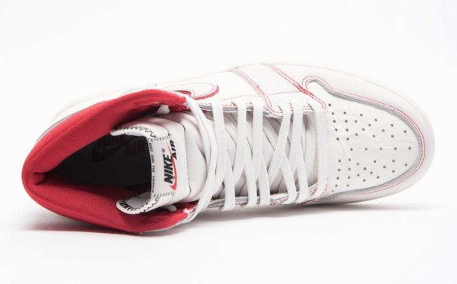 "Air Jordan 1 Retro High OG ""Sail/Red"" 货号:555088-160 - 莆田鞋"