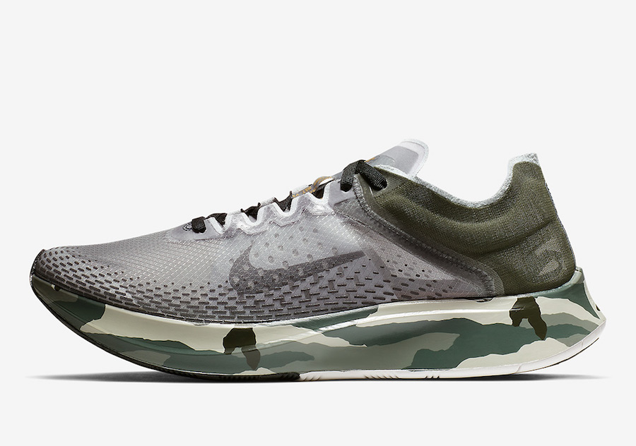 Nike Zoom Fly SP Fast Sequoia Golden Moss 货号:AT5242-300 - 莆田鞋