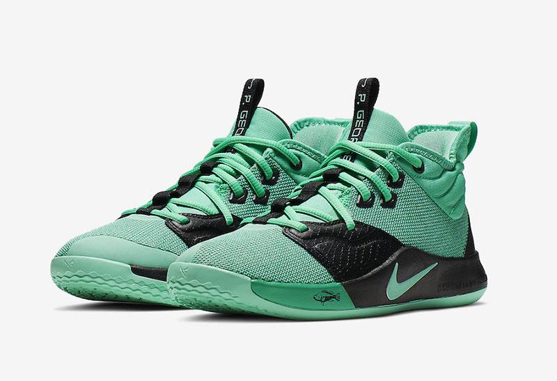 "Nike PG3 GS ""Menta Green"" 保罗3三代签名战靴主题配色,货号: AQ2462-330 | 球鞋之家0594sneaker.com"